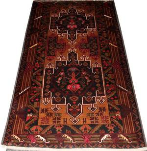 HERIZ INFLUENCED HAND WOVEN WOOL RUG