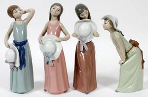 LLADRO PORCELAIN FIGURES OF YOUNG LADIES FOUR10