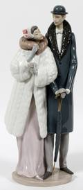 LLADRO PORCELAIN FIGURE GROUP ON THE TOWN