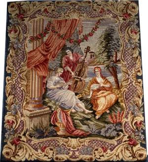 HAND WOVEN WOOL TAPESTRY EARLY 20TH C