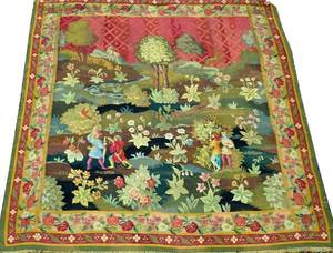 CONTINENTAL WOOL TAPESTRY