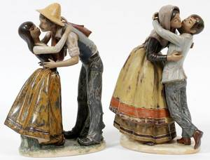 LLADRO GRES FIGURES TWO H 12 14  12 34