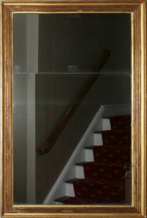 CONTEMPORARY GILT WOOD WALL MIRROR