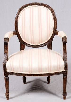 FRENCH STYLE OPEN ARMCHAIR