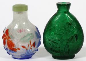 CHINESE GLASS SNUFF BOTTLES 2