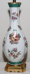 HARDPASTE PORCELAIN VASIFORM TABLE LAMP OVERALL