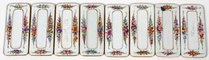 DRESDEN PORCELAIN PLACE CARD HOLDERS SET OF EIGHT