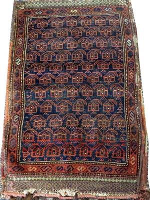 BALUCH NORTHEAST IRAN HAND WOVEN BAG C 1900