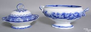 Doulton Burselum flow blue covered serving dish