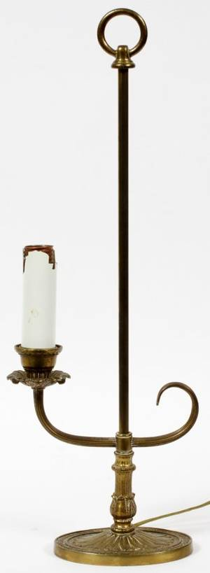 BRASS STUDENT LAMP EARLY 20TH C