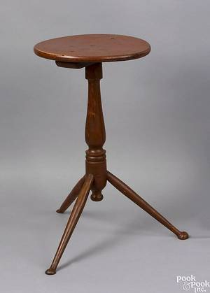 New England painted candlestand late 18th c