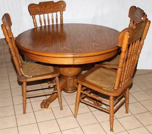 AMERICAN OAK DINING TABLE C 1900