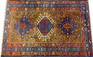 KARAJA PERSIAN HAND WOVEN RUG C 1890 W 4 3 L 6 8
