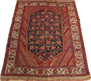 AFSHAR SOUTH CENTRAL IRAN HAND WOVEN RUG C 1890