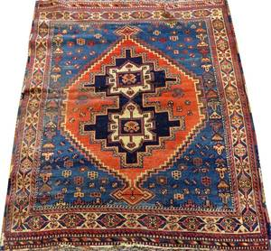 AFSHAR SOUTH CENTRAL IRAN HAND WOVEN RUG C 1900