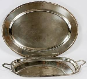ENGLISH SILVERPLATE SERVING TRAYS EARLY 20TH C 2