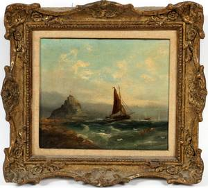 MICHAELS HANNET ENGLISH OIL ON CANVAS C 1883