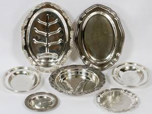 SILVERPLATE TRAYS  SERVING PIECES EARLY 20TH C 7