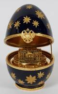 FABERGE LIMOGES FRANCE IMPERIAL WHITE HOUSE EGG