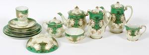 NORITAKE HANDPAINTED PORCELAIN BREAKFAST SET
