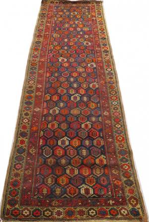 NORTHWEST PERSIAN HAND WOVEN WOOL RUNNER C 1900