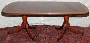 BAKER FURNITURE CO MAHOGANY DINING TABLE 20TH C