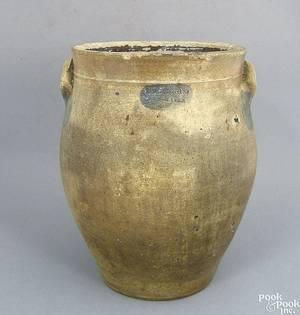 Stoneware crock 19th c