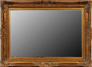 GILT WOOD FRAMED WALL MIRROR