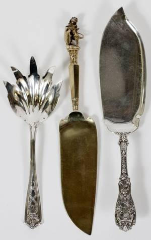 TIFFANY  CO  GORHAM STERLING SERVING PIECES