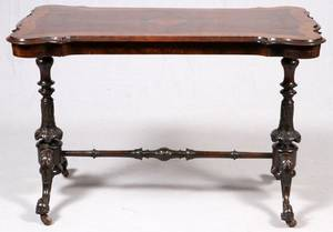 ENGLISH WALNUT LIBRARY TABLE C 1860