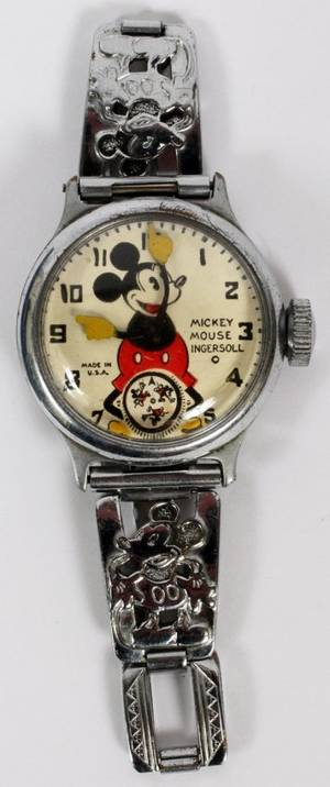 MICKEY MOUSE INGERSOLL PLATED WRISTWATCH