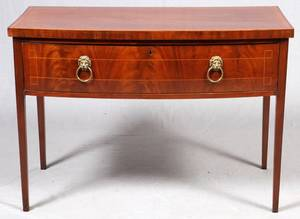 ENGLISH MAHOGANY BOW FRONT CHEST C 1800