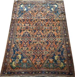 MALAYER PERSIAN HAND WOVEN RUG C 1900