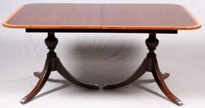 BAKER FURNITURE CO MAHOGANY DINING TABLE