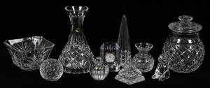 WATERFORD CUT CRYSTAL TABLEWARE TEN PIECES