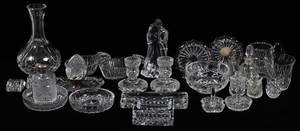 WATERFORD CUT CRYSTAL DESK SET  TABLEWARE 27PCS