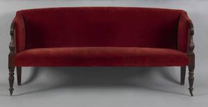 Massachusetts late Federal mahogany sofa ca 1815