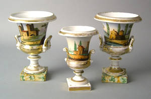 Pair of Paris porcelain vases 19th c