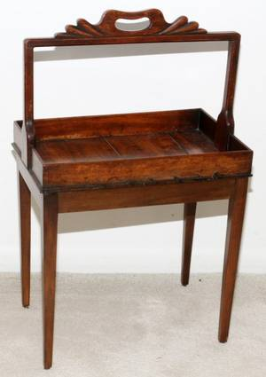 ENGLISH MAHOGANY TRAY TABLE 19TH C