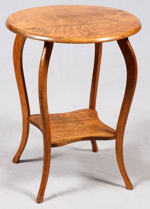 AMERICAN OAK PARLOR TABLE C 1900