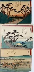 JAPANESE UKIYOE COLOR WOODBLOCK PRINTS