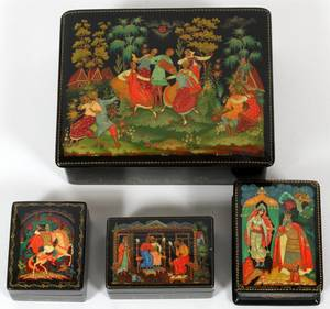 RUSSIAN LACQUER BOXES FOUR