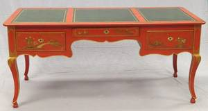 BAKER FURNITURE CO CHINOISERIE STYLE DESK