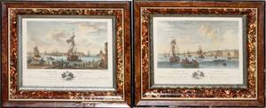 FRENCH LITHOGRAPHS 19TH C TWO VISIBLE SIZE