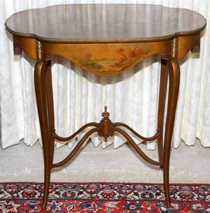 FRENCH LOUIS XV STYLE VERNIS MARTIN PARLOR TABLE