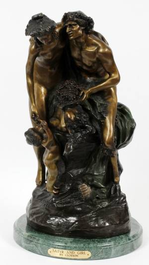 AFTER JEANBAPTISTE CLODION BRONZE SCULPTURE