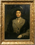 082072 FN DONALDSON OIL ON CANVAS WOMAN IN A SUIT