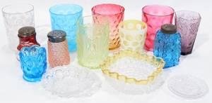 101208 VICTORIAN GLASS TUMBLERS SALT SHAKERS ETC