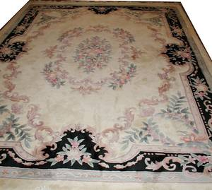 091246 CHINESE HANDWOVEN WOOL CARPET 1110x89