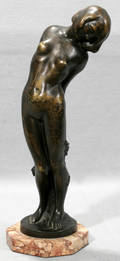 082094 ARGENTOR WERKE BRONZE SCULPTURE FEMALE NUDE